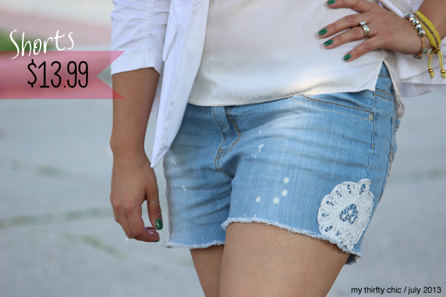 crochet cut off shorts