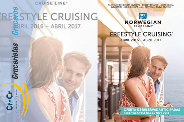 NOTICIAS DE CRUCEROS - Norwegian Cruise Line presenta su catálogo 2.016 / 2.017