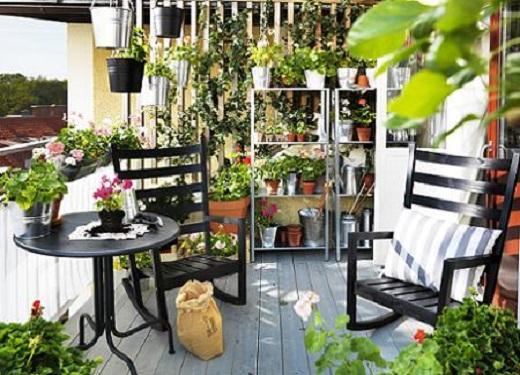 Muebles para la terraza guia de jardin - Plantas terraza ...