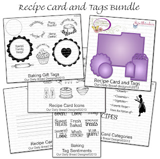 Stamps - Our Daily Bread Designs Recipe Card and Tags Bundle