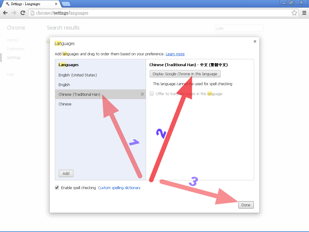how to change primary language in chrome