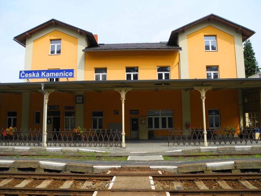 Vlakové nádraží v České Kamenici