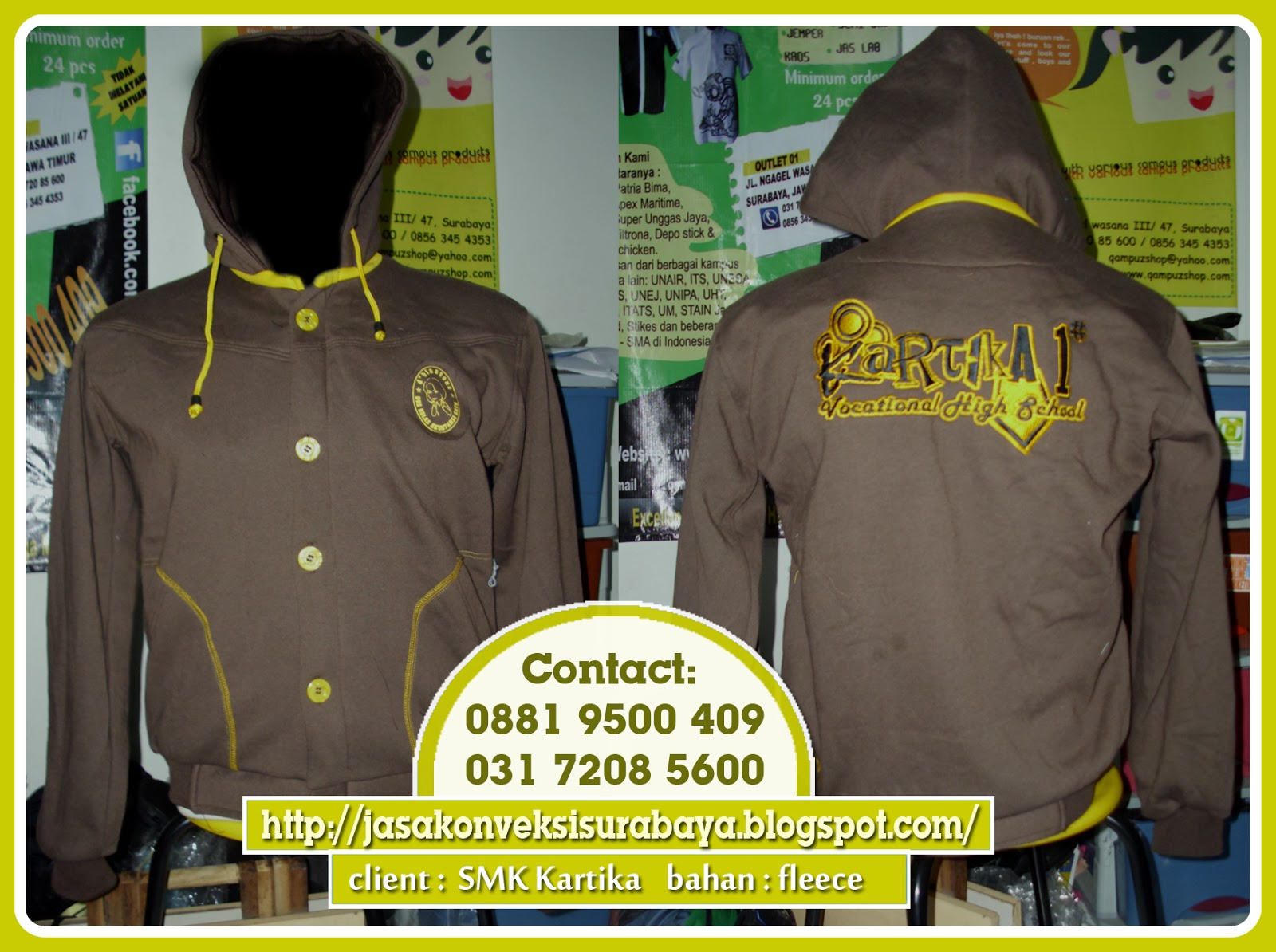 jasa konveksi supplier jaket bordir disurabaya