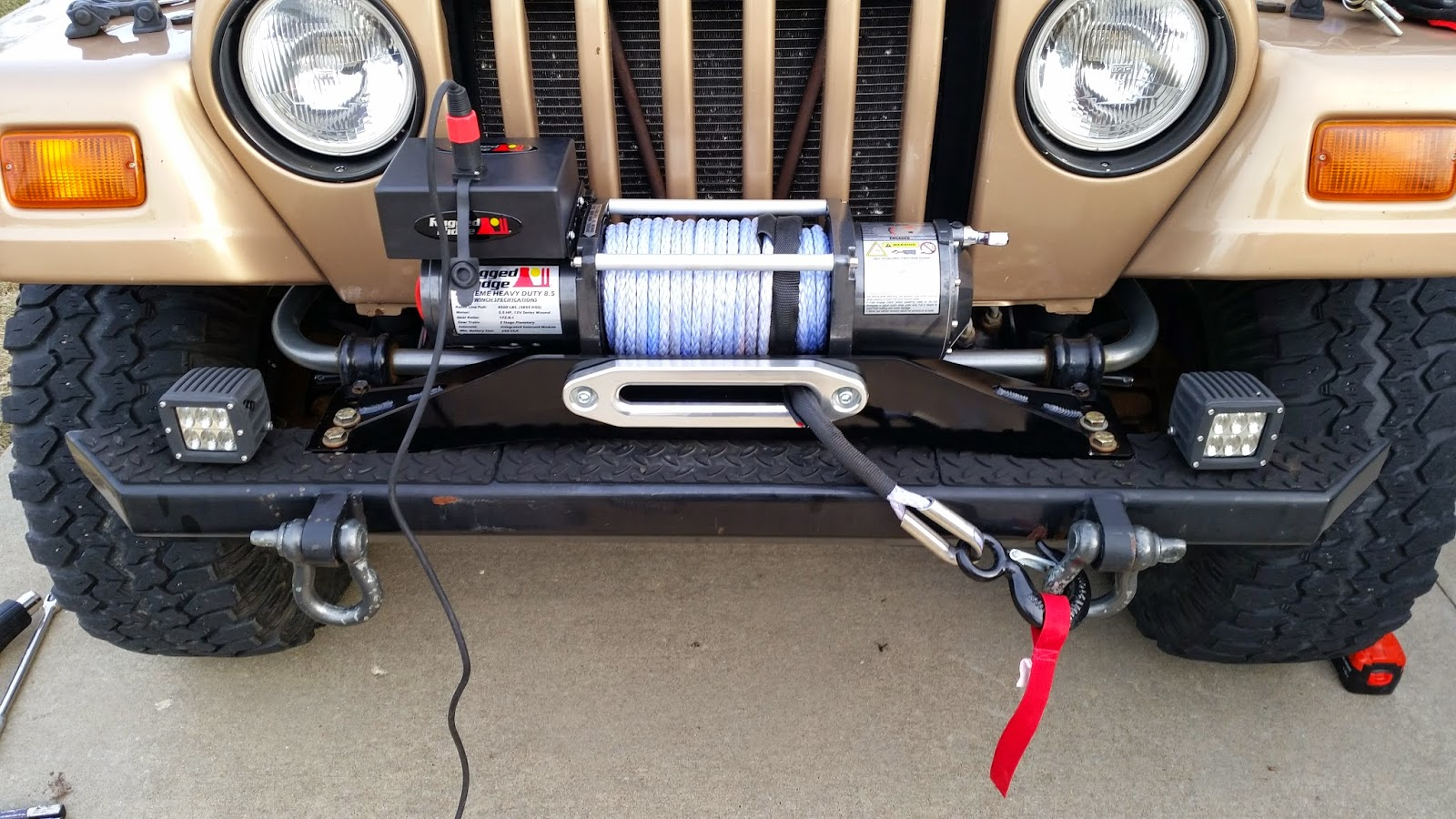 Disconnect The Winch Controller And Turn Off The Vehicle. Stand Back And  There You Have An Installed Winch From Rugged Ridge.