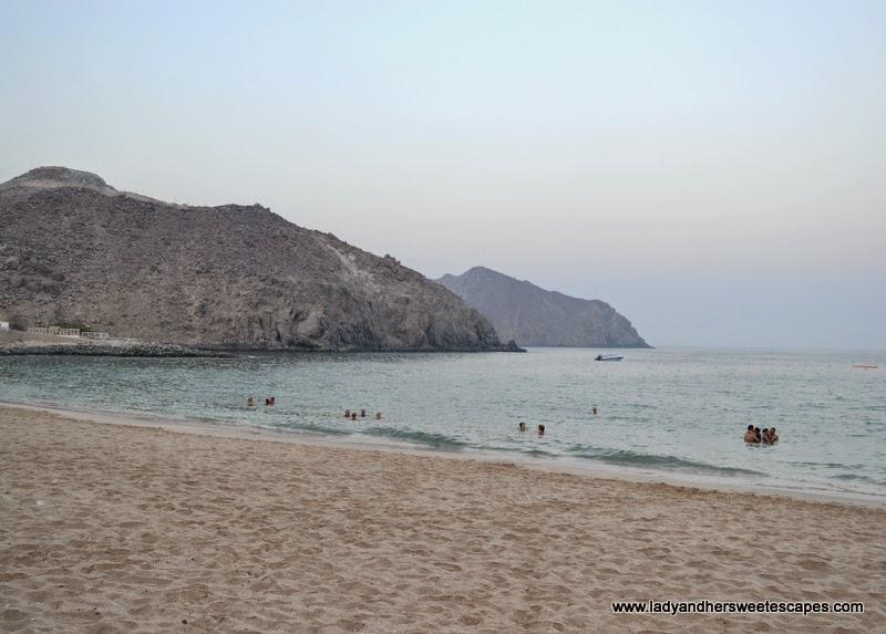 Oceanic Hotel's private beach