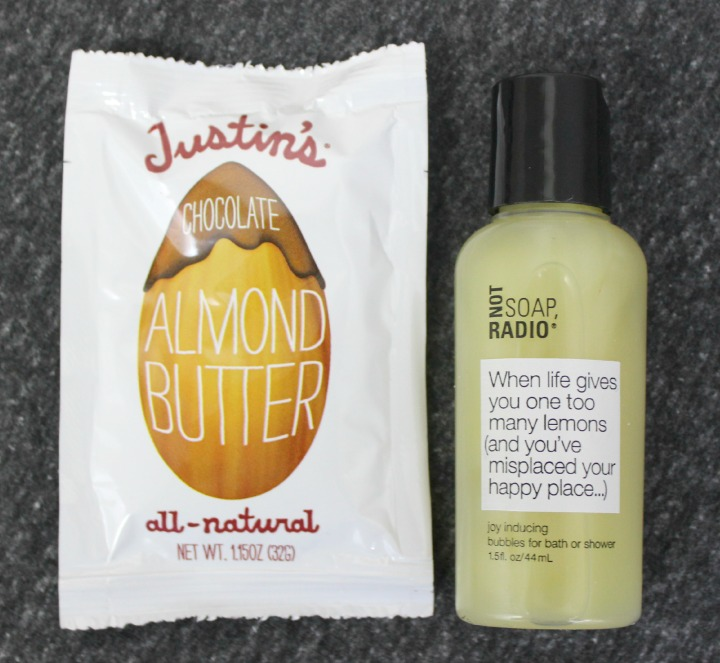 Not Soap, Radio Body Wash in Joy Inducing Justin's Chocolate Almond Butter sample squeeze pack