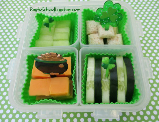 St Patrick's Day, Go Green bento lunch