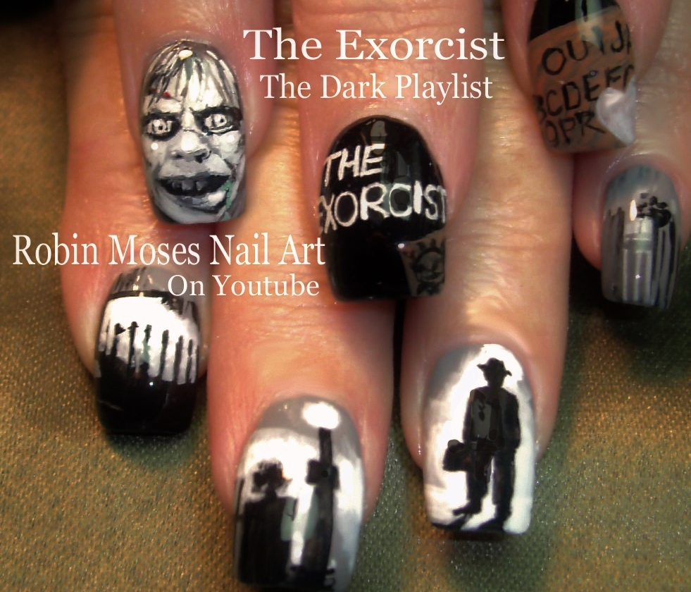 Robin Moses Nail Art February 2015: Robin Moses Nail Art: American Horror Story Coven Nails