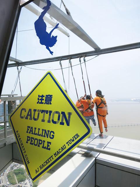 澳門旅遊塔 Macau Tower - 空中漫步X版 Skywalk ~ 可惜我是畏高的