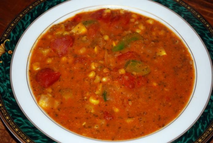 Cold Tomato Summer Vegetable Soup Recipe — Dishmaps