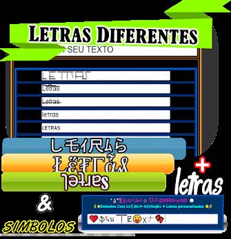 ▼ ➕ Letras Diferentes ↙