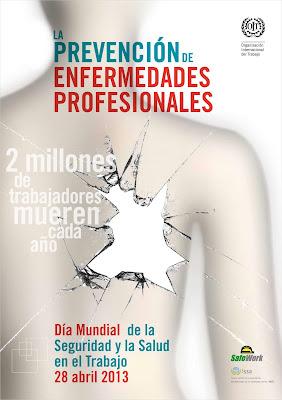 Cartel para el Día Mundial de la Seguridad y la Salud en el Trabajo 2013