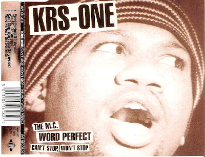 KRS-One – The M.C. / Word Perfect / Can't Stop, Won't Stop (CDS) (1996) (FLAC + 320 kbps)