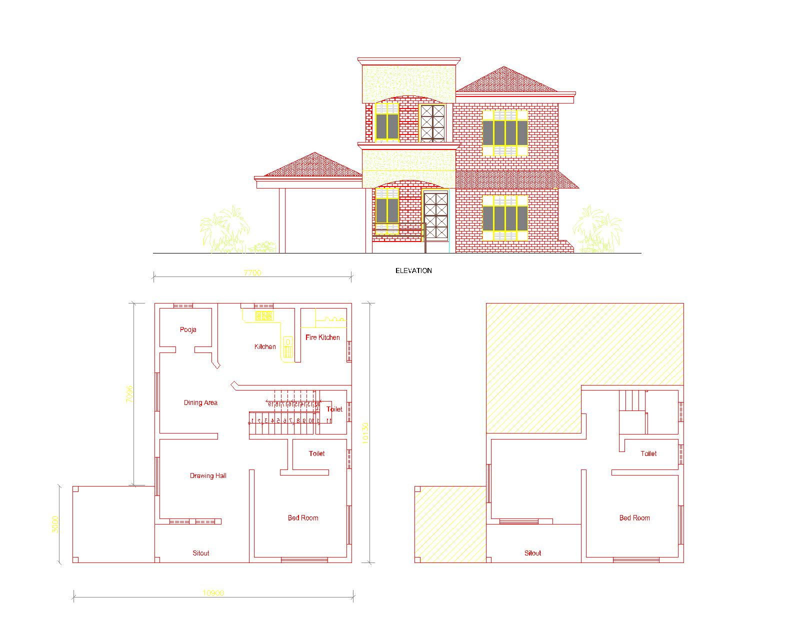 Veedu Plans And Elevations Joy Studio Design Gallery