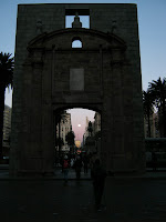 The door of Old city of montevideo at independece square
