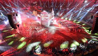 Momento de la ceremonia inaugural de los Juegos