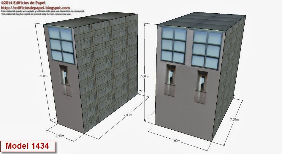 ©2014 Edificios de Papel Modelo 1434