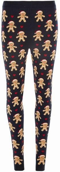 Leggings con estampado de galleta navideña