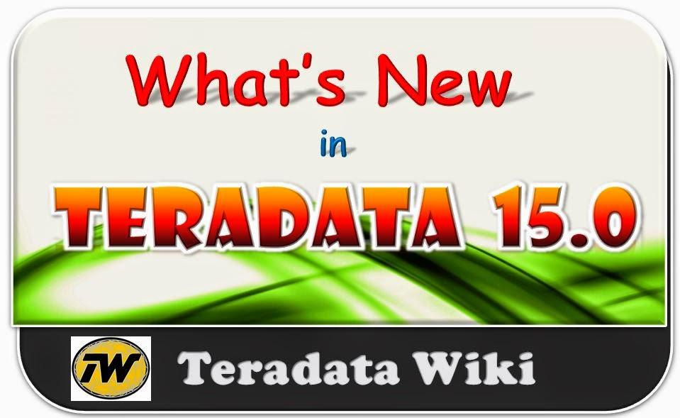 teradata 15 features