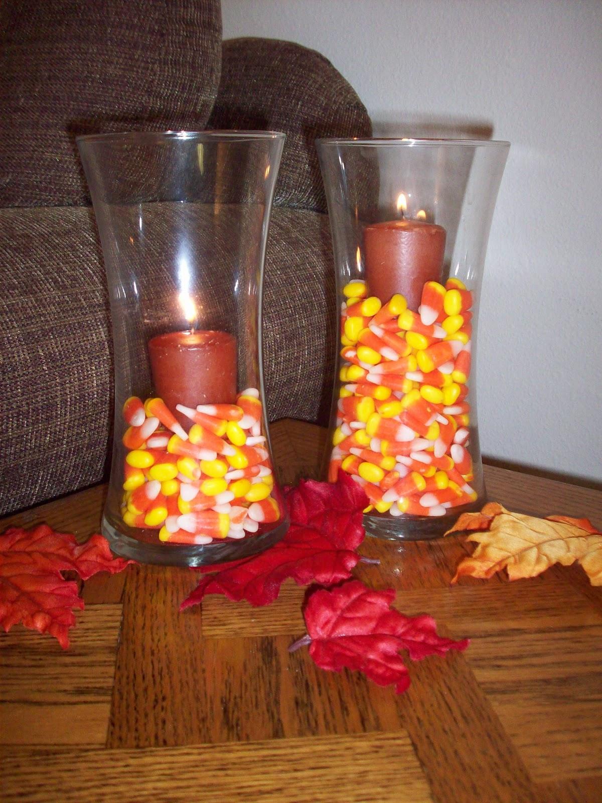 Pumpkin decoration coffee table centerpiece