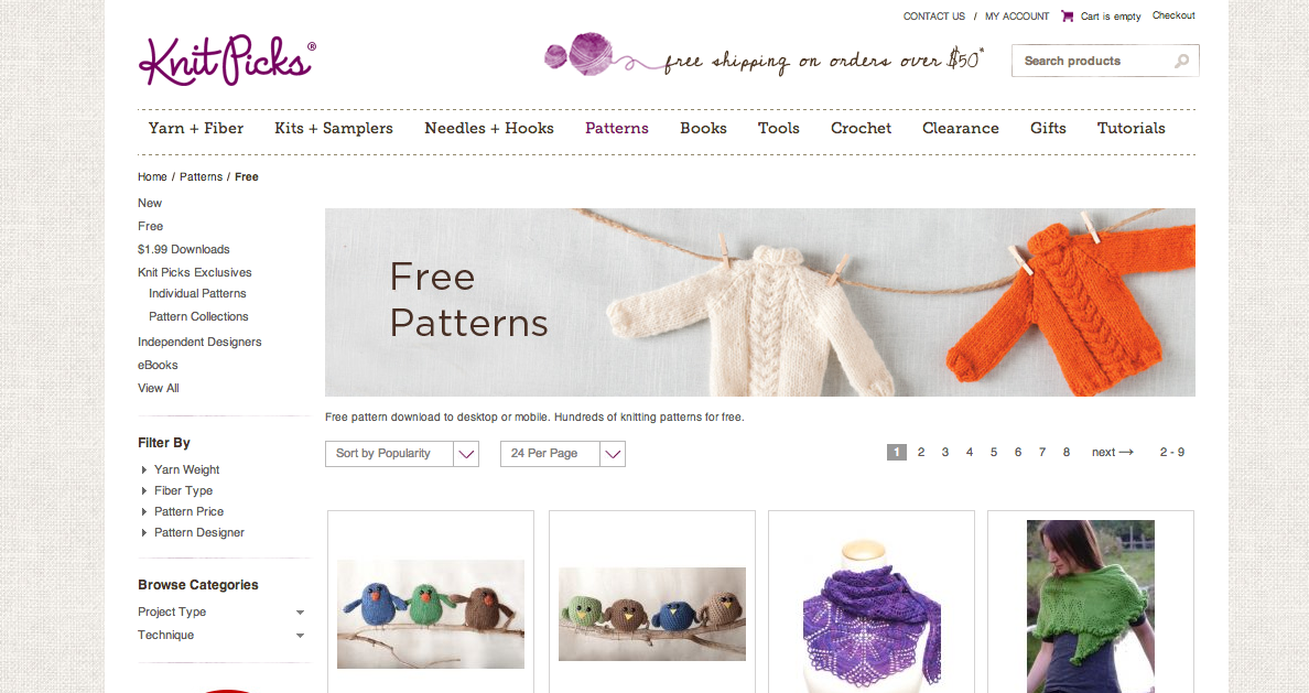 DESIGN CONTEXT: What is good//Knitting websites