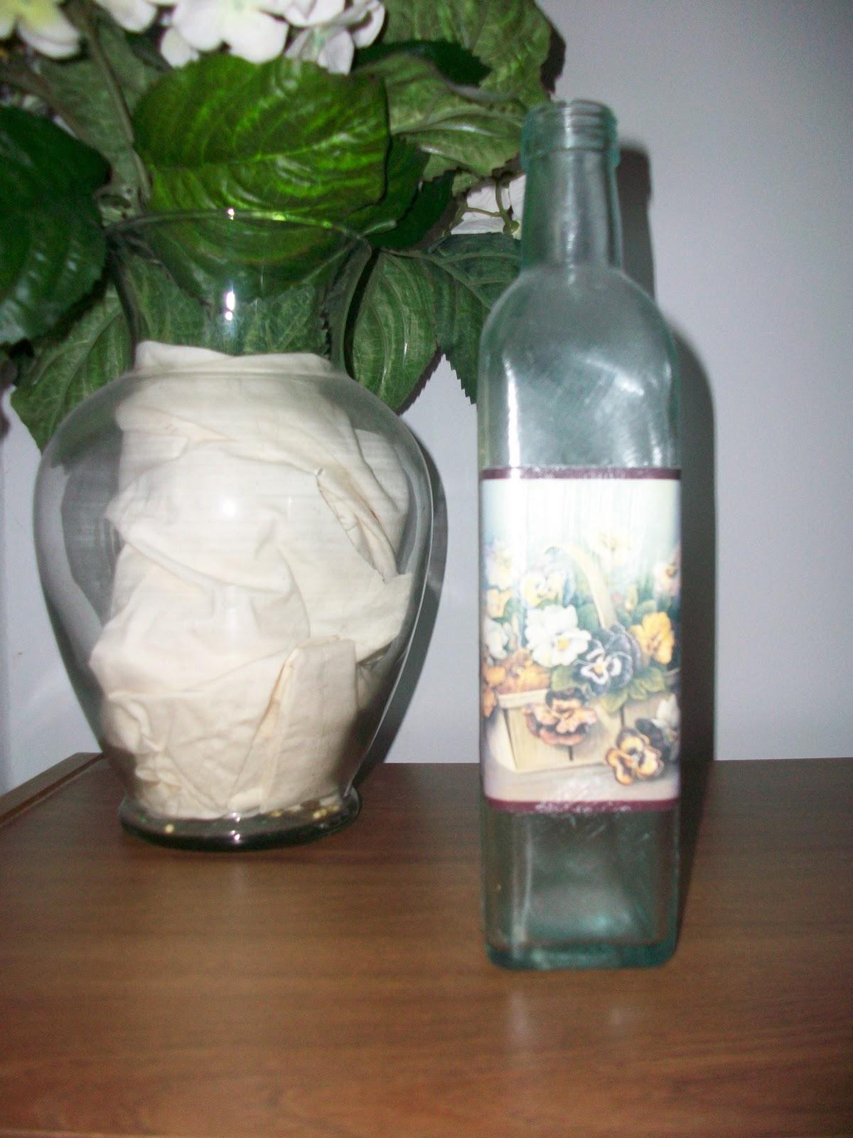slight changes decorated glass bottle. Black Bedroom Furniture Sets. Home Design Ideas