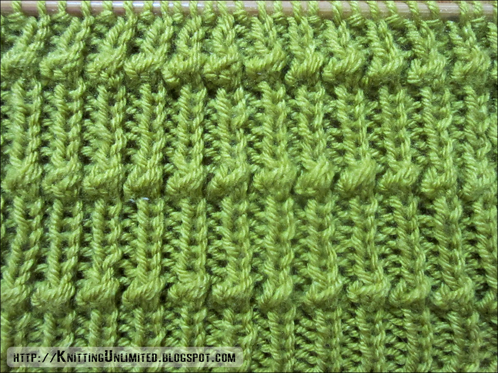 Rib Patterns Knitting : Knitting Knotted Rib Stitch - Knitting Unlimited