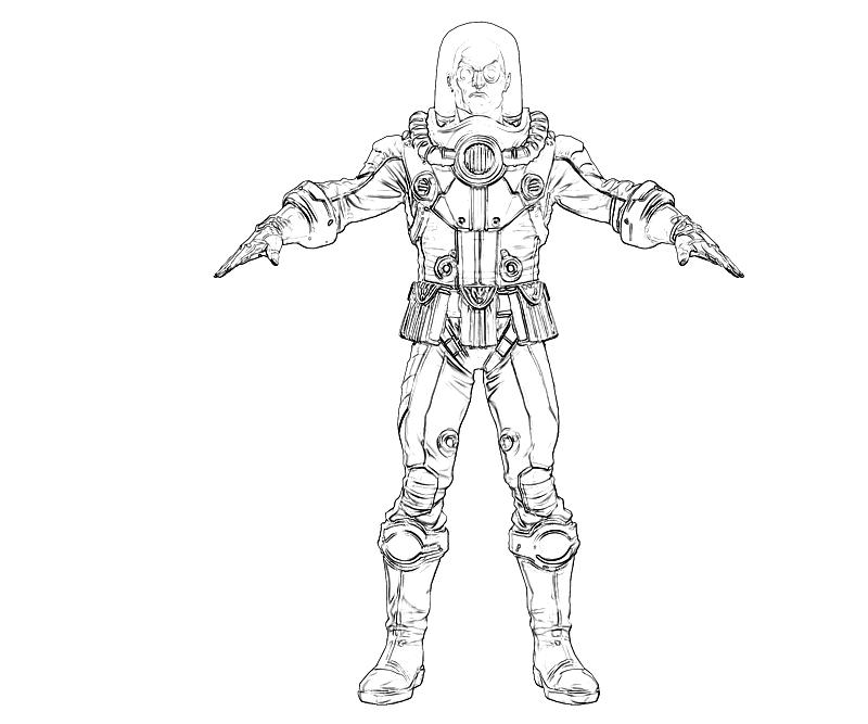 mr freeze coloring pages - mr freeze concept lowland seed