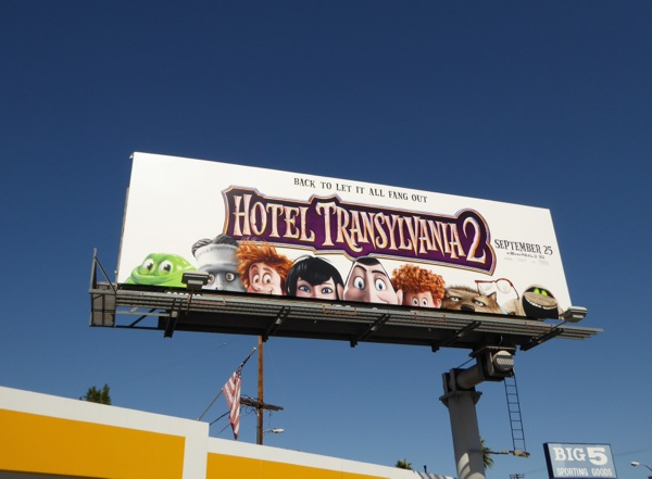 Hotel Transylvania 2 movie billboard