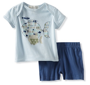 MyHabit: Save Up to 60% off Lucky Jade for Baby: Fish Tee/Short Set - Lapped shoulder tee with cute fish graphics, matching knit shorts with easy elastic waistband.