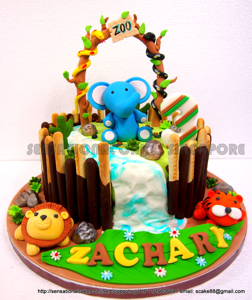 The Sensational Cakes Animals Theme Jungle Zoo Cake Singapore