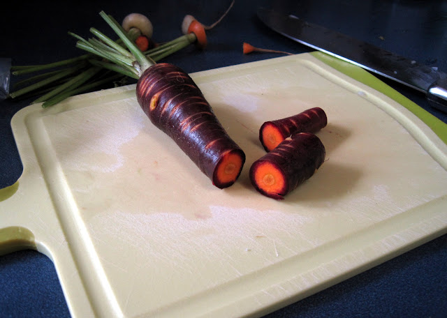black carrots, purple carrots