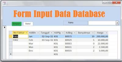 Cara Membuat Form Aplikasi Database