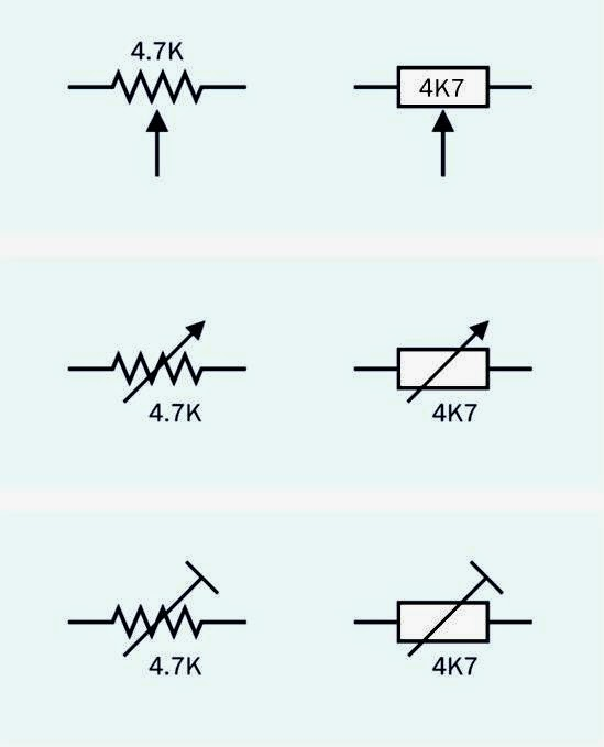 electrical schematic symbol potentiometer
