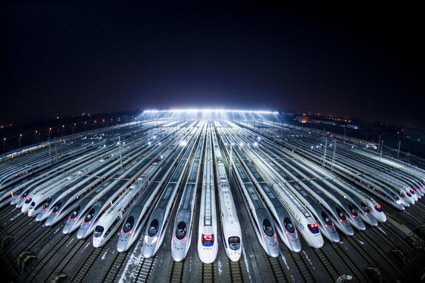 Parade der schnellen Züge
