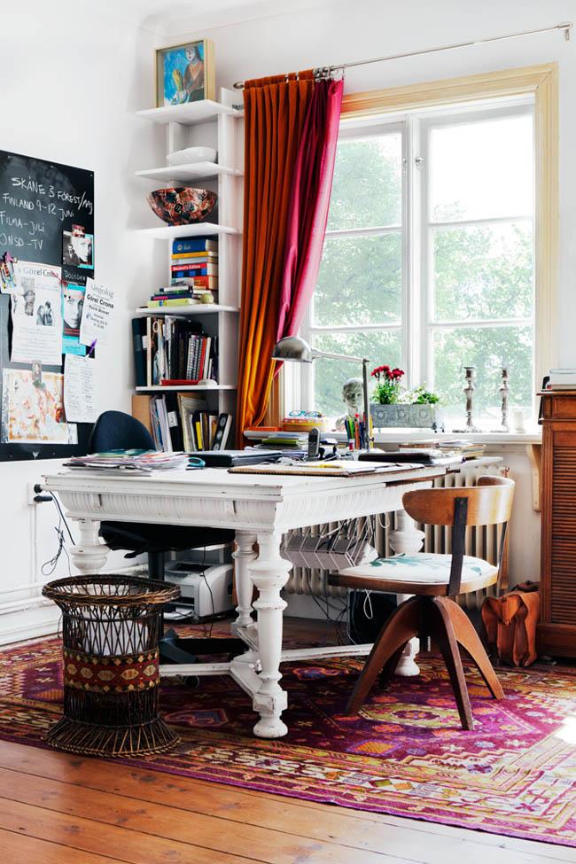 color, los muebles vintage y el estilo personal son los protagonistas