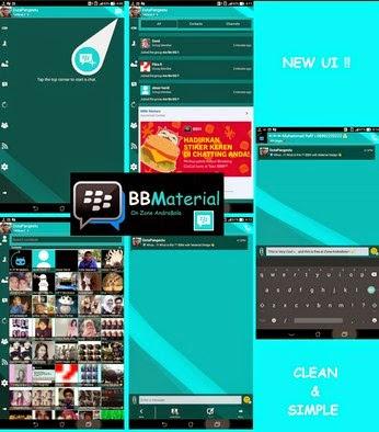 Free Download BBM Mod Thema Material Terbaru Versi 2.8.0.21