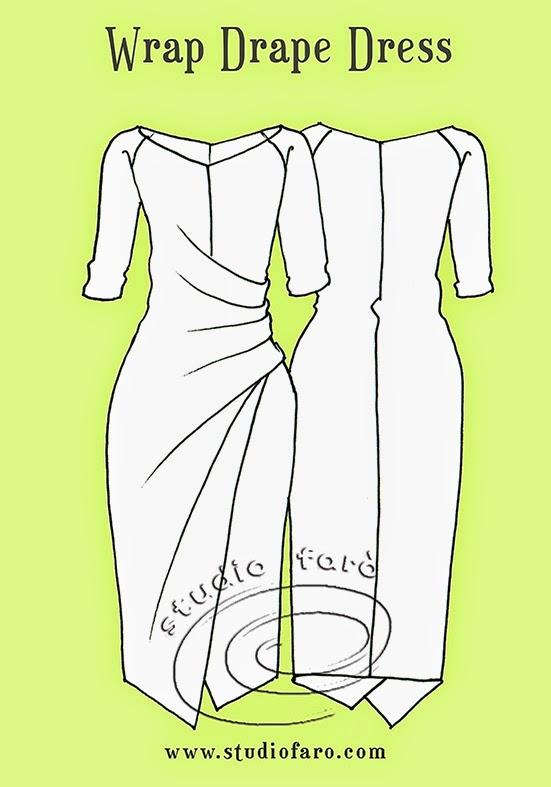 Как сделать выкройку на платье с драпировкой