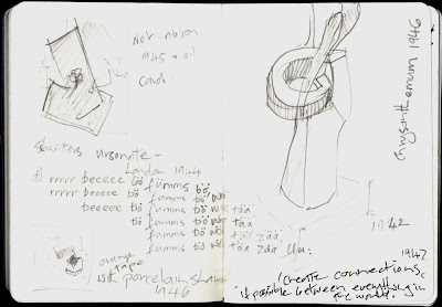 At Schwitters Jill Evans notebook 2013