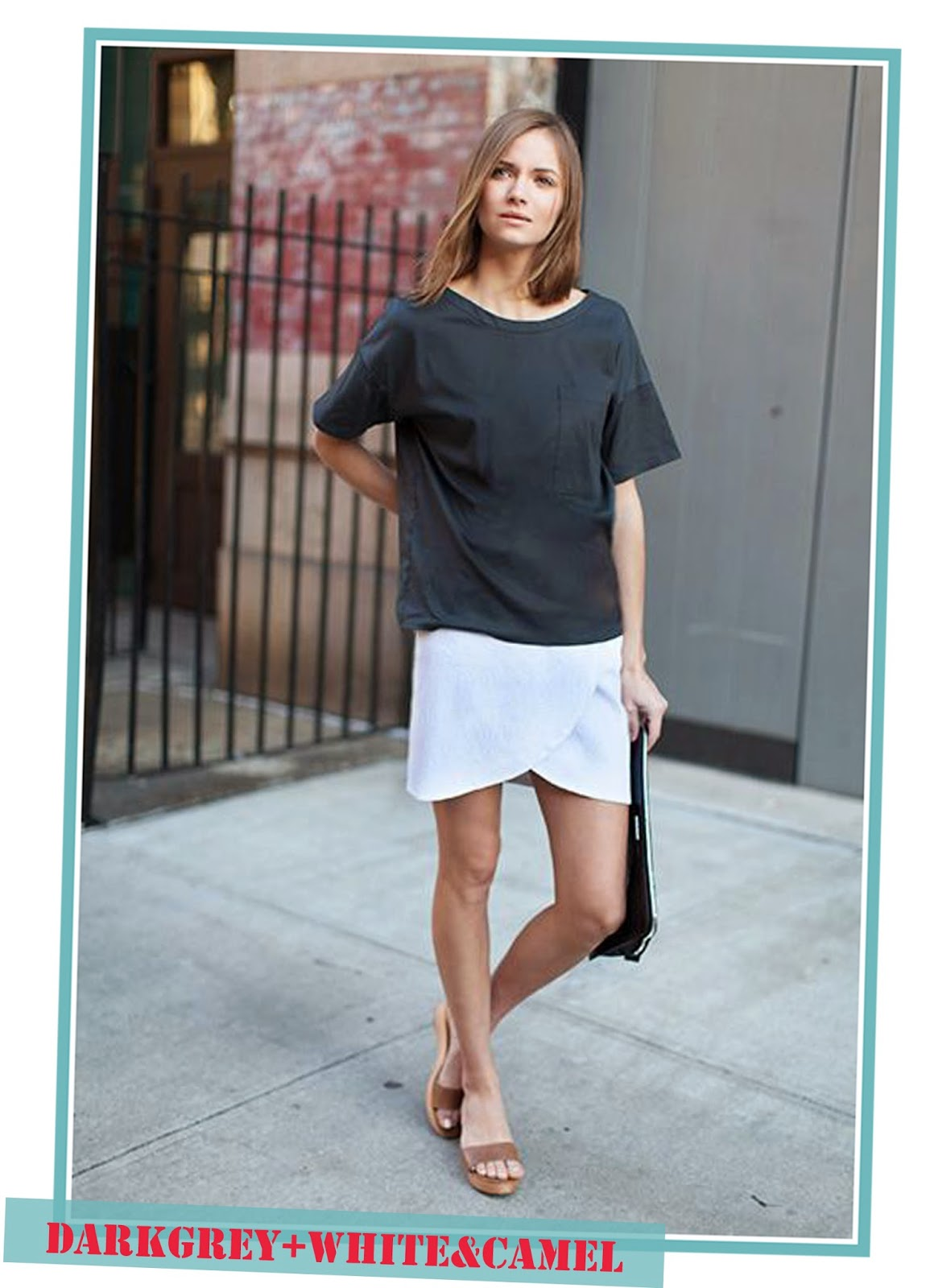 photo-look-street_style-grey_shirt-white_skirt-camel_shoes
