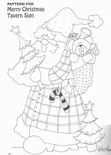 desenho papai noel  country para pintar