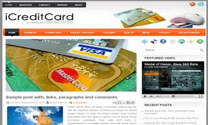 iCreditCard Blogger Template