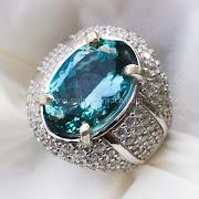 Cincin Batu Permata Blue Topaz - SP670