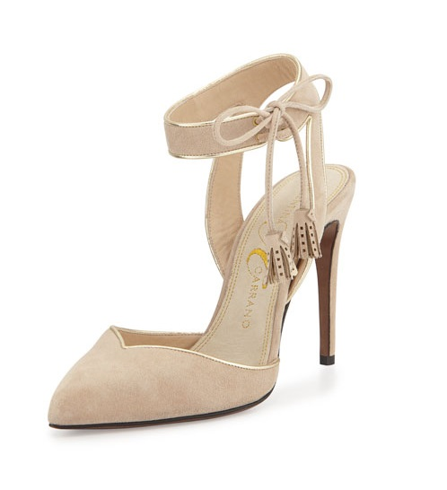 Valentina Carrano nude ankle strap heels with tassels
