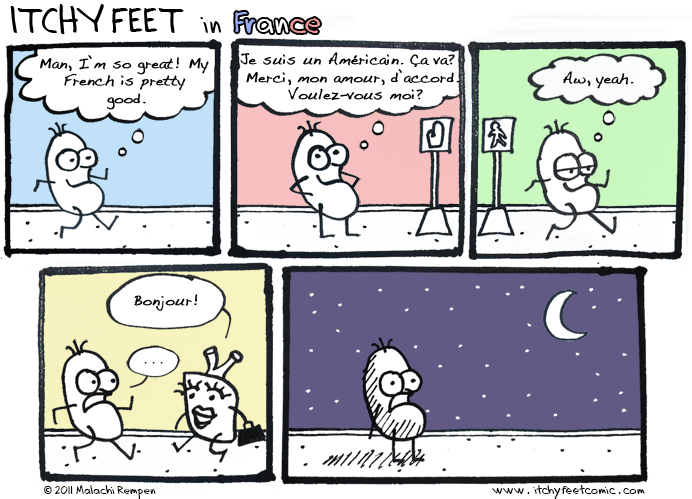Itchy Feet: Le Linguistíque Nerves