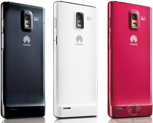 Huawei Ascend P1 - Warna Hitam Putih Merah