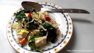 memasak toge tahu dengan rice cooker