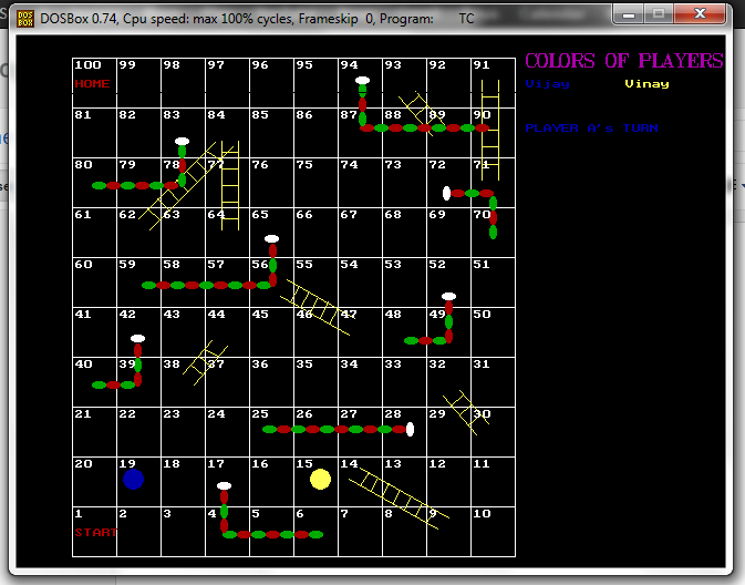 In To The Programming Snakes And Ladders Game In C