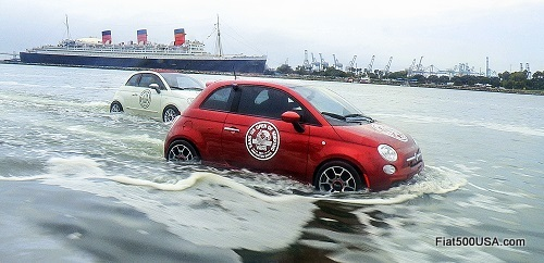 Fiat 500 watercraft and Queen