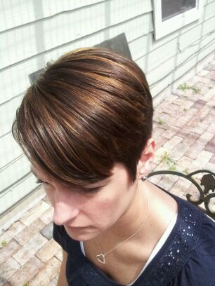 Salon Sovay Caramel Hilights And Platinum Color With A